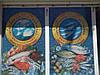 Оформление витрины  перфорированной пленкой с поклейкой, фото 7