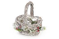 Декоративная корзина из натуральных материалов 22 см