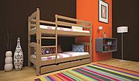 Кровать Трансформер-3 сосна ТИС (двухъярусная деревянная кровать)