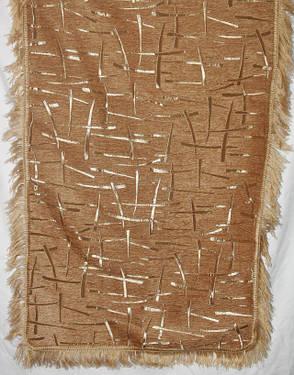 Двухспальные гобеленовые покрывала Бризги шампанского песочный, фото 2