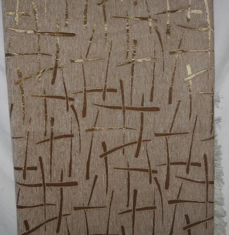 Двухспальные гобеленовые покрывала Бризги шампанского беж с белым, фото 2