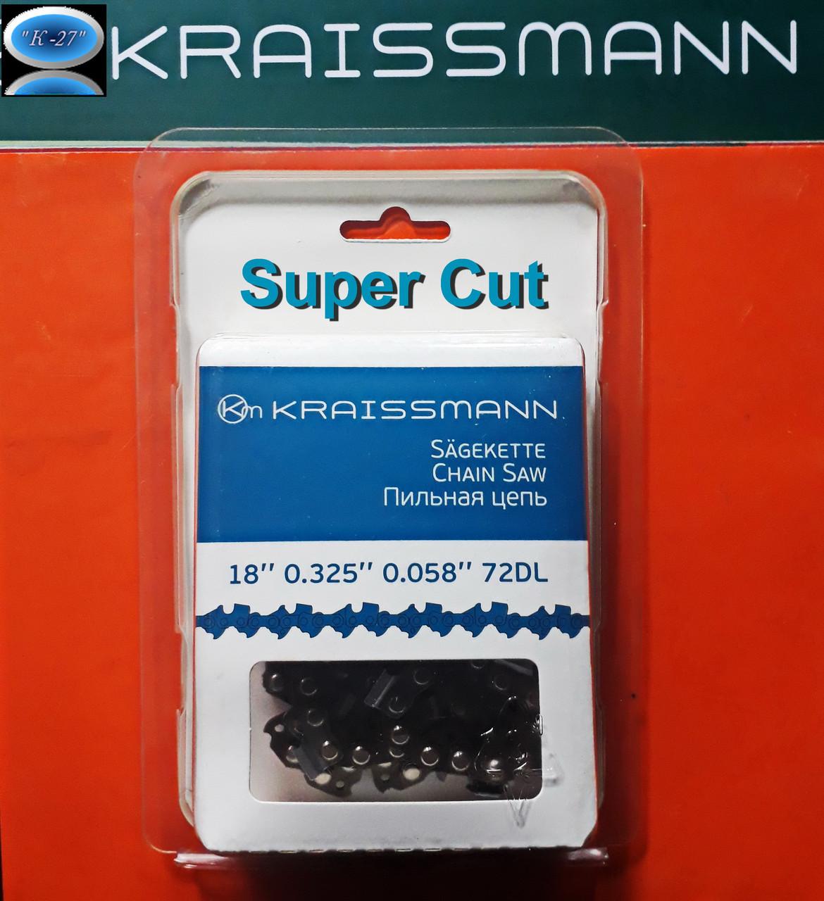 "Цепь пильная для пил 72 звена , шаг 0,325"" супер зуб Kraissman"