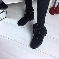 Зимние ботиночки в стиле HeRmes натуральная замша внутри набивная шерсть р  37 38 39 40 39 fc3f0141a30
