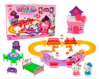Хелло Китти железная дорога и домик с мебелью Hello Kitty