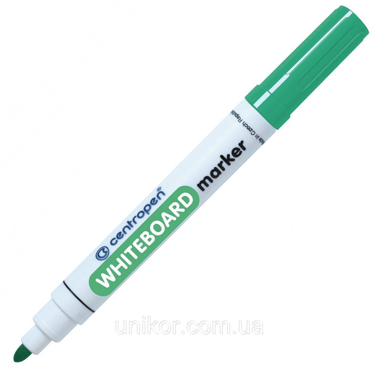Маркер для сухостираемых досок, 2.5 мм., зеленый. CENTROPEN