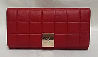 Женский классический кошелёк. Стёганый кошелёк из натуральной кожи.