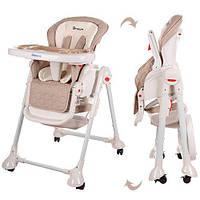 Детский стульчик- качели  для кормления 2в1 DREAM M 3551-13