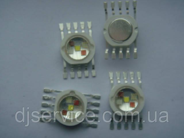 LED диод 5w RGBWA для WASH голов, паров и др.