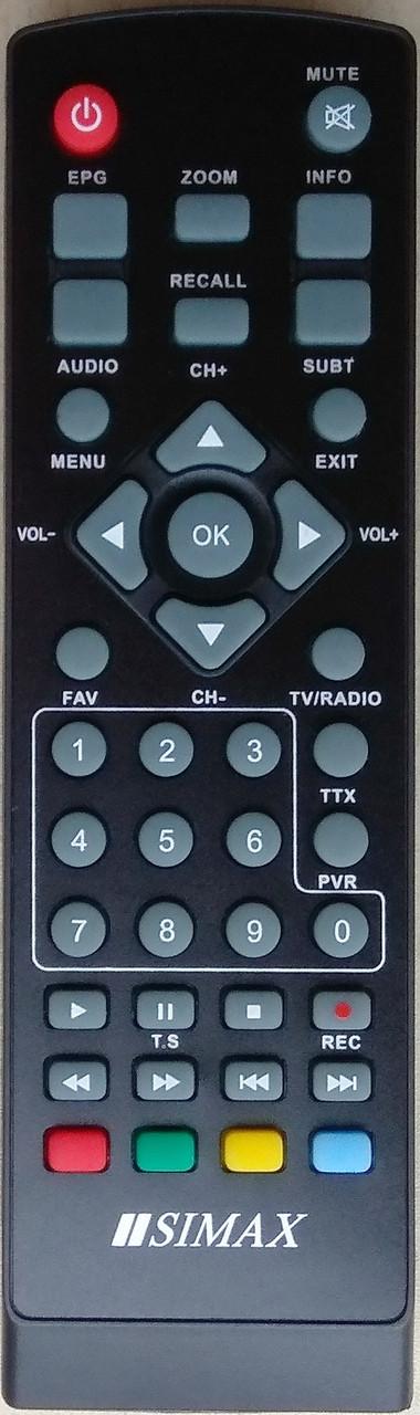 Пульт от тюнера эфирного цифрового телевидения Т2 SIMAX HDTR 871F2