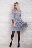 Нарядное женское платье велюр с вышивкой р.44-48 AR98970-5
