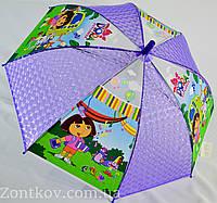 """Детский зонт трость для девочек на 5-9 лет с красочными рисунками от фирмы """"Paolo""""."""