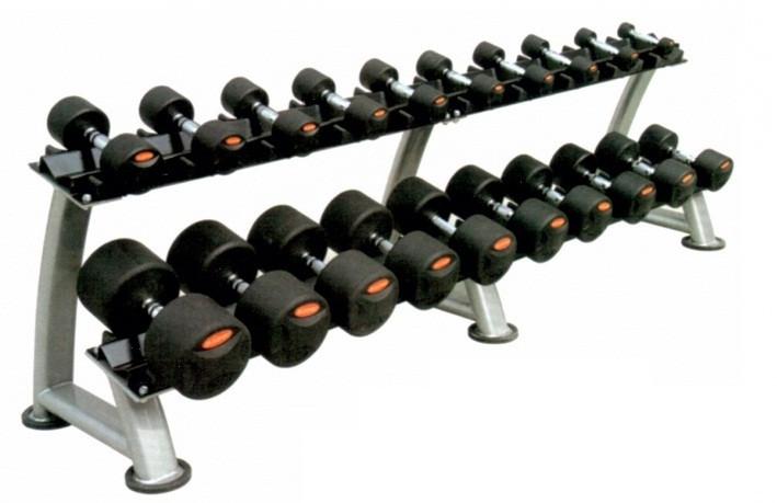 Гантельний ряд обгумований Stein 12,5-35 кг (10 пар)