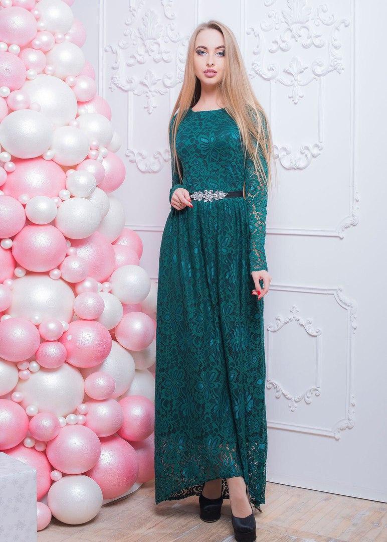 2356cddaefb Роскошное женское вечернее платье (гипюр