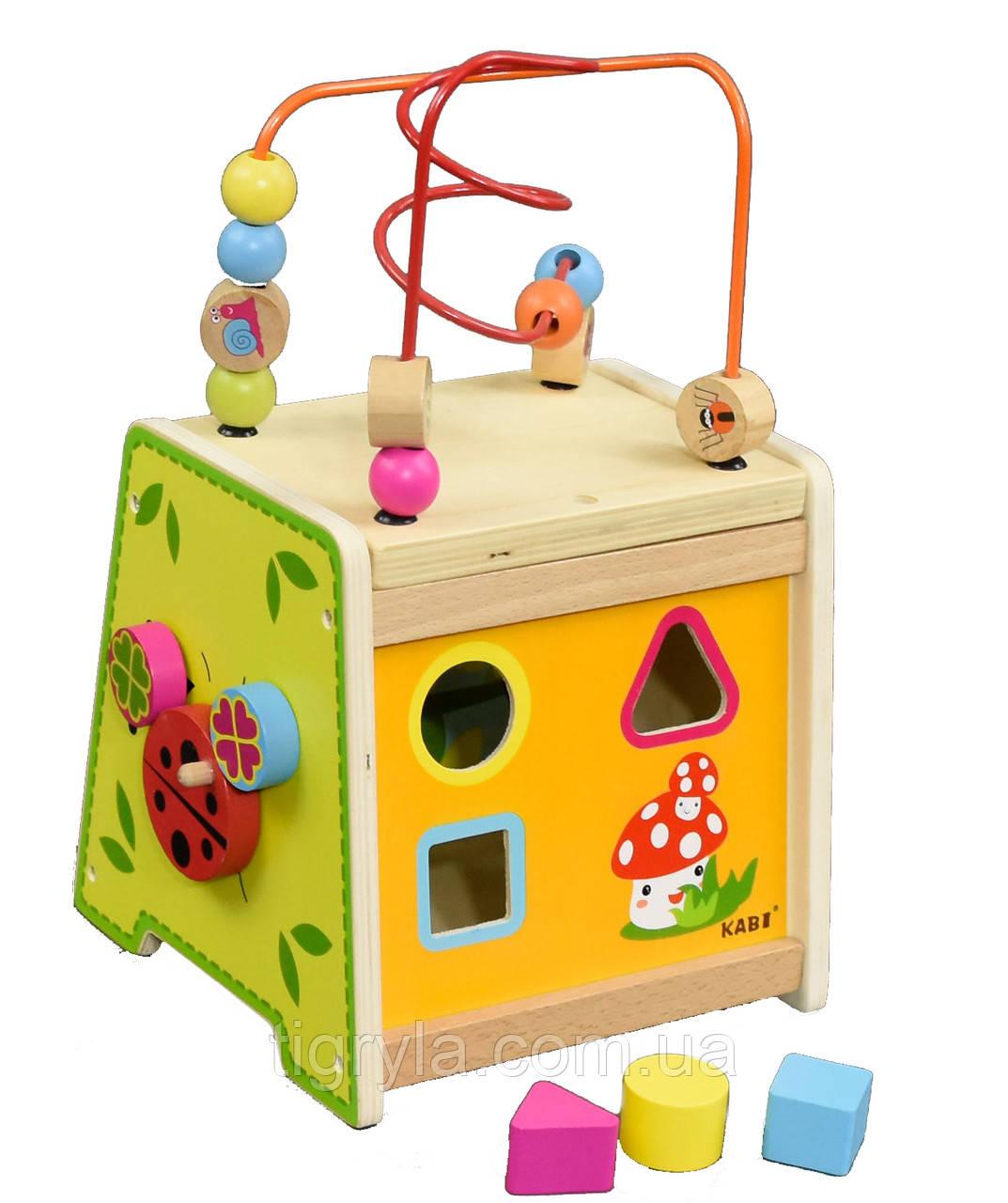 Деревянная логическая игрушка сортер