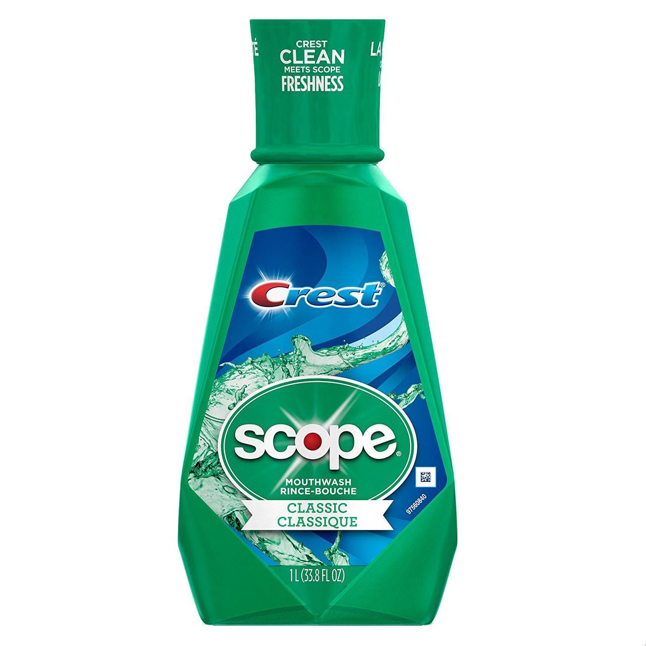 Ополаскиватель для рта Crest Scope Classic Mouthwash 1 л