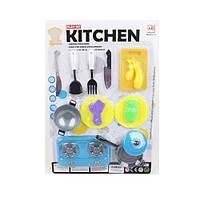 Посуд игрушечный на листе плита сковор. кухон. набори  27*39 см. 1002-3 (72)