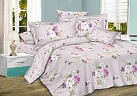 Комплект постельного белья Комфорт Текстиль сатин Украина полуторка