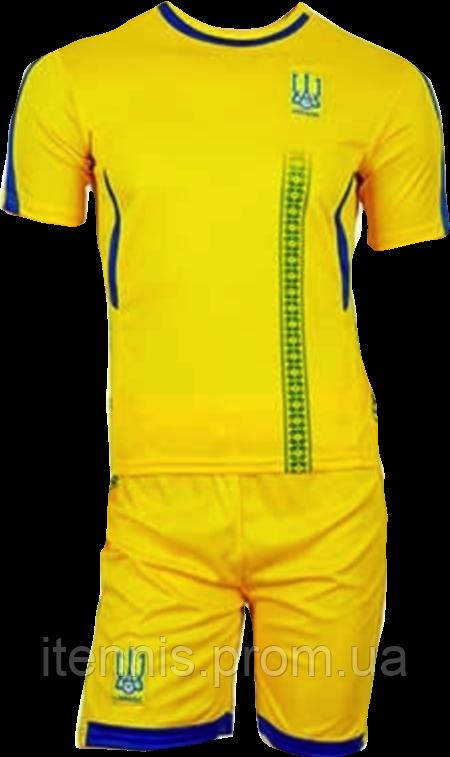 Форма футбольная Украина ЧМ-2018 (XS-S-M-L-XL) Желтая