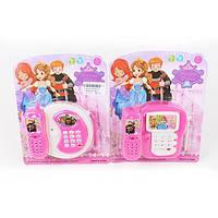Телефон мобильный игрушка на листе на бат муз свет 19*12*14см  3939-60 (144)