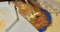 Подготовка рабочего места к выкладке алмазной мозаики