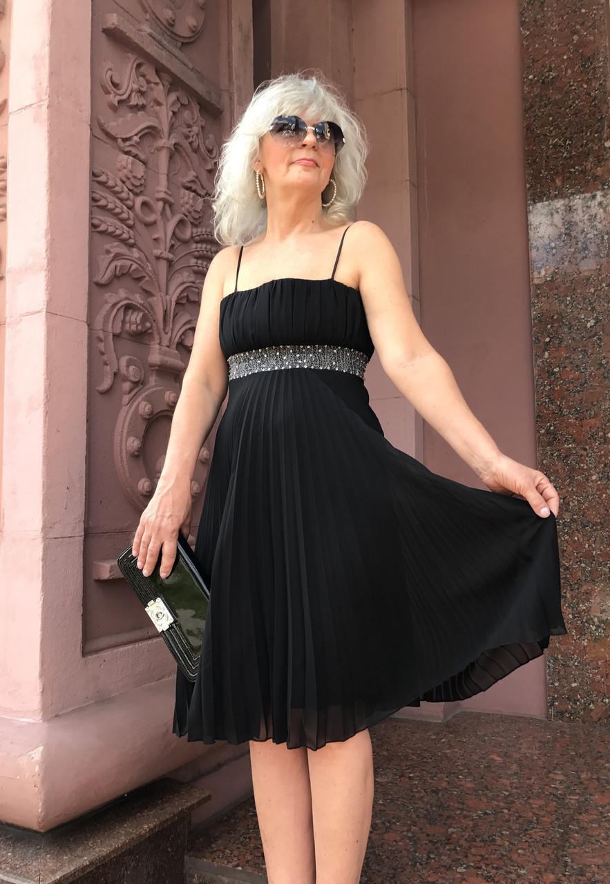 Платье вечернее нарядное летнее женское Perspective шифон плиссе на бретелях