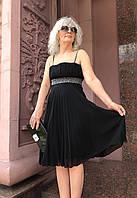 Платье Perspective шифон плиссе нарядное на брителях