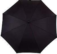 Стильный, мужской, противоштормовойзонт-трость, полуавтомат с большим куполом FULTON, FULG844-Black, черный