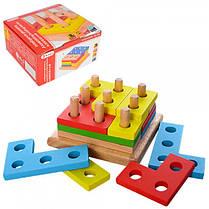 Деревянная игрушка Геометрика MD 1132 36020