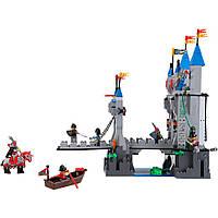 Качественный конструктор для детей  Brick Enlighten серия Рыцари 1022 (Разводной мост замка Льва)