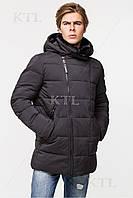 Батальная мужская зимняя куртка с меховой опушкой