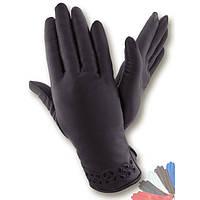 Женские перчатки из натуральной кожи на шерстяной подкладке модель 003.
