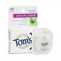 Зубная нить натурально вощёная Tom's of Maine Natural Antiplaque Flat Floss