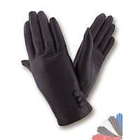 Женские перчатки из натуральной кожи на шерстяной подкладке модель 037.