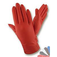 Женские перчатки из натуральной кожи на шерстяной подкладке модель 040.
