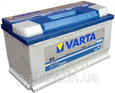 Аккумулятор VARTA Blue Dynamic G3 (595402080) 6СТ-95, 800En, габариты 353х175х190, гарантия 24 мес.