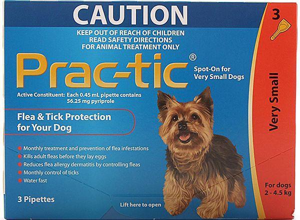 Прак-тик Novartis для мини собак, 2-4,5 кг, 3 пипетки в упаковке