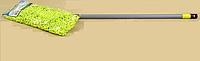 Плоская швабра с насадкой из микрофибры и пластиковой телескопической ручкой 60x120 см Valsar