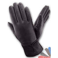 Женские перчатки из натуральной кожи на шерстяной подкладке модель 150.
