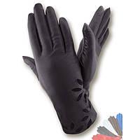 Женские перчатки из натуральной кожи на шерстяной подкладке модель 227.
