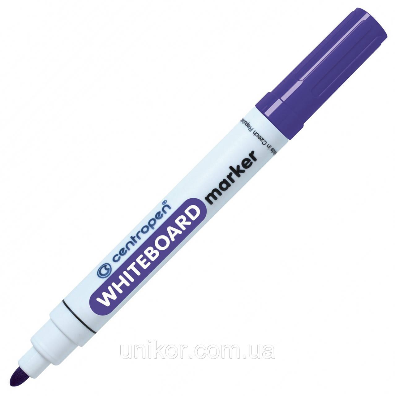 Маркер для сухостираемых досок, 2.5 мм., фиолетовый. CENTROPEN