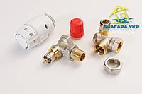 Комплект радиаторных терморегуляторов Danfoss RA-N, RAS-C2, RLV-S, угловой 013G2219
