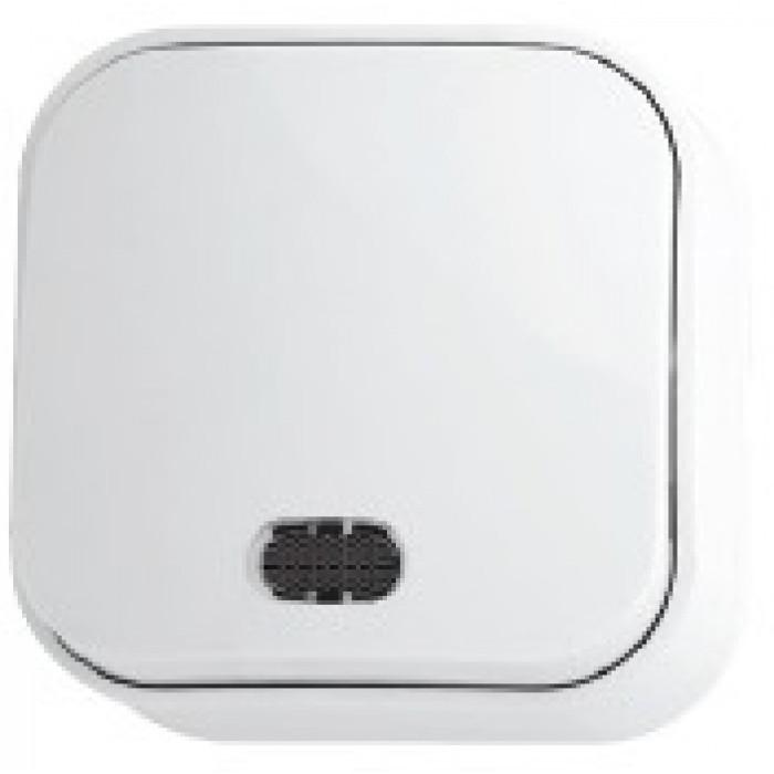 Выключатель с подсветкой белый EVA