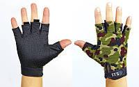 Перчатки тактические 5.11 (PL, открытые пальцы, р-р L, камуфляж Multicam)