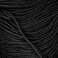 Шнур Вощеный Полиэстер, подходит для плетения браслетов, Цвет: Черный, Размер: Толщина 3мм, около 80м/связка (УТ100009681)