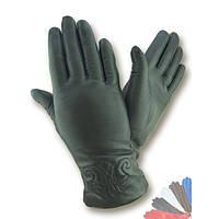 Женские перчатки из натуральной кожи на шерстяной подкладке модель 454.