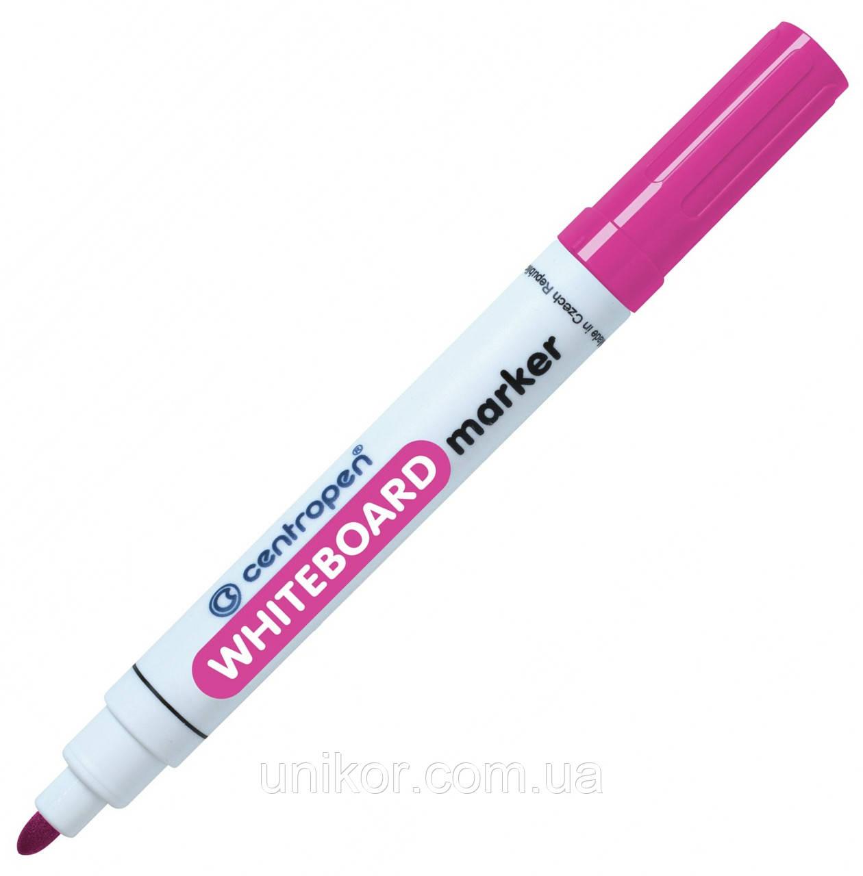 Маркер для сухостираемых досок, 2.5 мм., розовый. CENTROPEN
