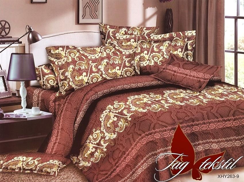 Комплект постельного белья XHY263-9 двуспальный (TAG polycotton (2-sp)-388)