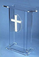 Трибуна религиозная мобильная из прозрачного акрила