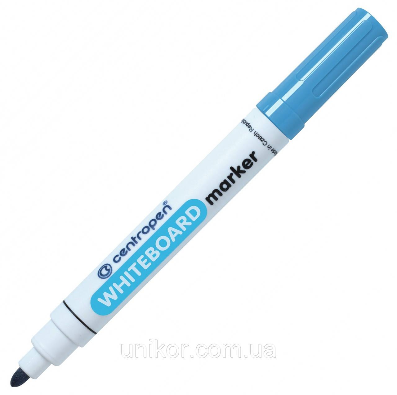 Маркер для сухостираемых досок, 2.5 мм., голубой. CENTROPEN
