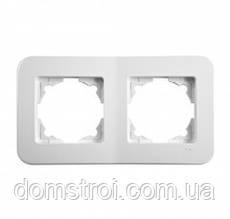 Двойная горизонтальная рамка VIKO Rollina белый